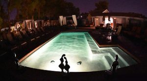 Sea Mountain Lifestyles Resort Las Vegas pool at night